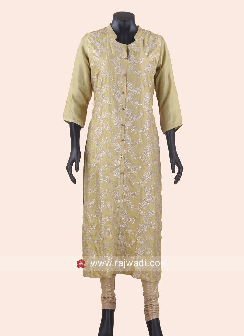Art Silk Sequins Work Kurti