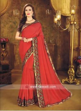 Art Silk Sequins Work Saree