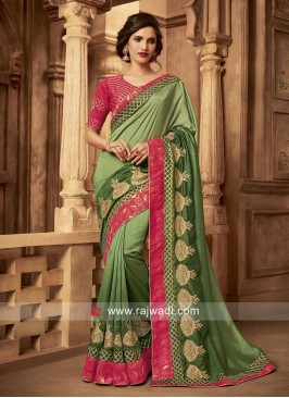 Art Silk Shaded Designer Sari