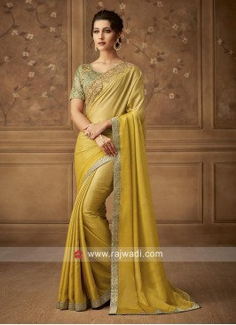 Art Silk Shaded Party Wear Saree