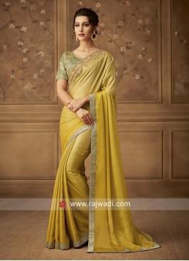 Art Silk Shaded Party Wear Saree