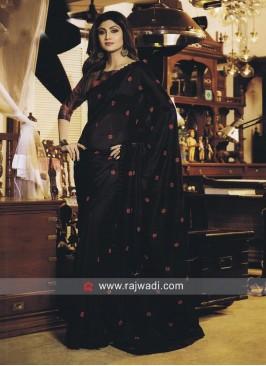 Art Silk Shilpa Shetty Embroidered Saree