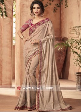 Art Silk Stone Work Saree