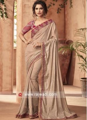 Art Silk Stone Work Saree