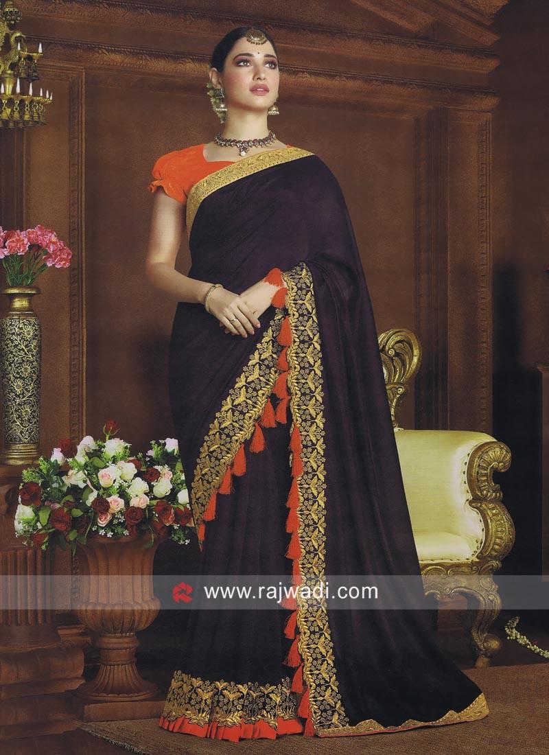 Art Silk Tamannaah Bhatia Bollywood Saree