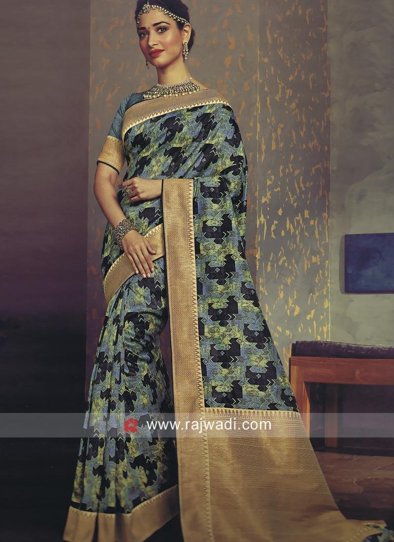 Art Silk Tamannaah Bhatia Designer Saree