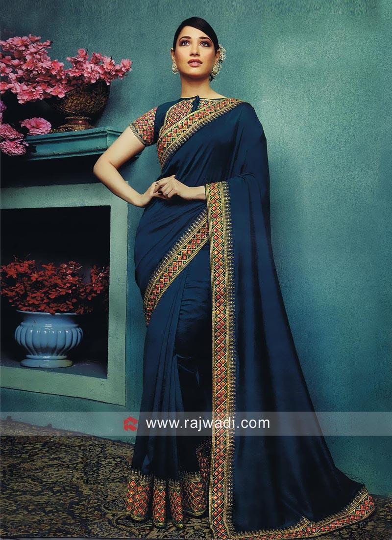 Art Silk Tamannaah Bhatia Designer Sari