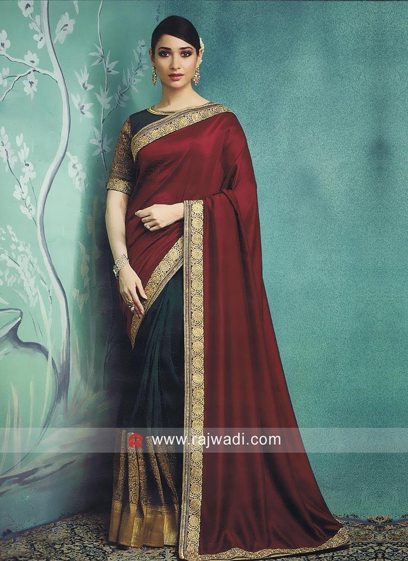 Art Silk Tamannaah Bhatia Half n Half Saree