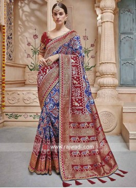 Art Silk Traditional Patola Saree