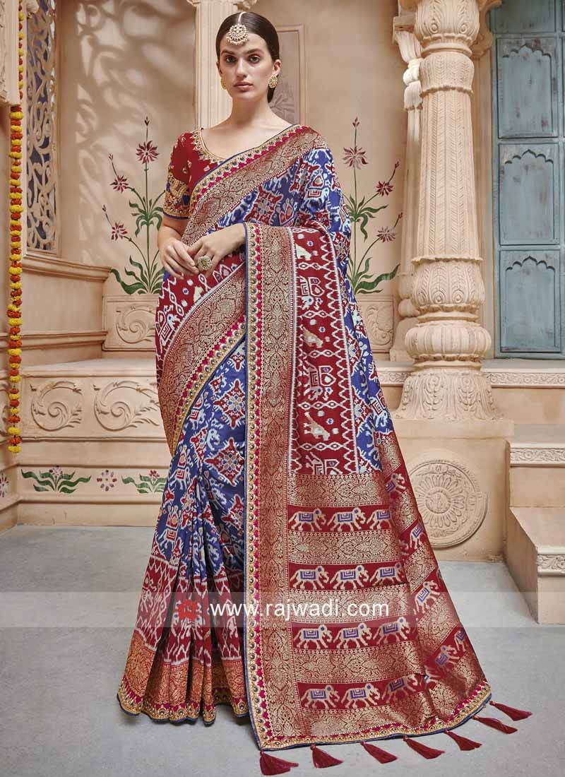 05c139e03c Art Silk Traditional Patola Saree. Hover to zoom