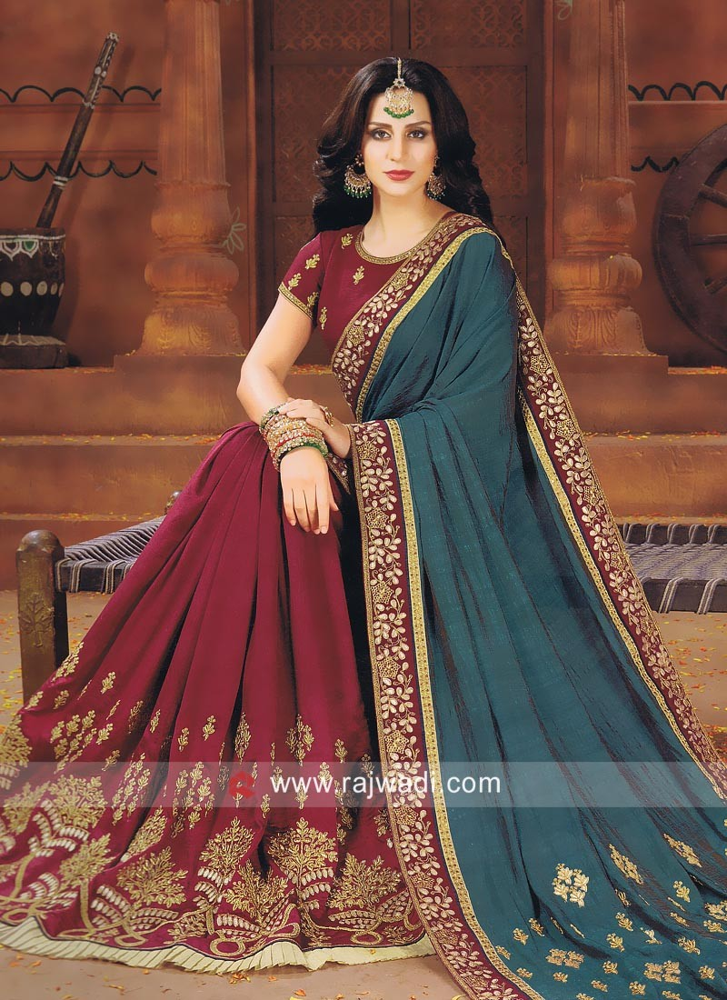Art Silk Wedding Designer Saree