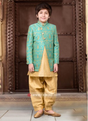 Art Silk Wedding Indo Western for Boys