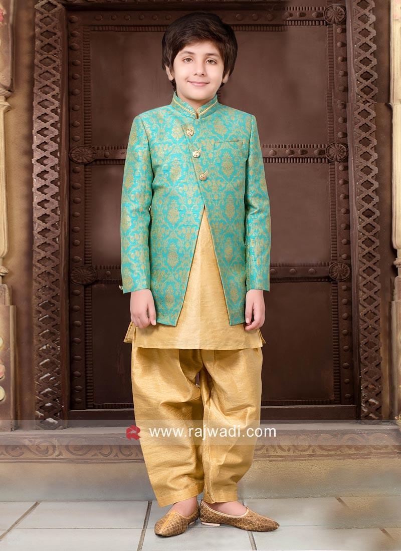 Art Silk Wedding Indo Western for Boys