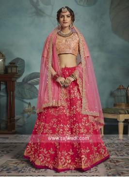 Art Silk Wedding Lehenga Choli