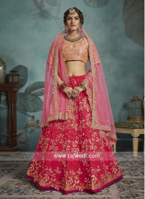 Art Silk Wedding Lehenga Choli
