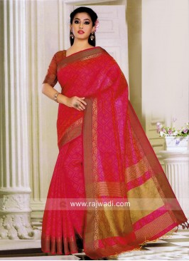Art Silk Wedding Saree with Blouse