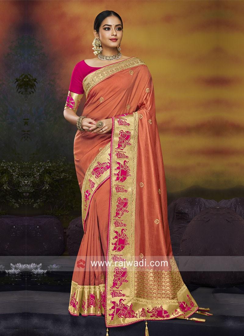 Art Silk Wedding Saree with Blouse