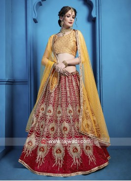 Art Silk Wedding Wear Lehenga Choli