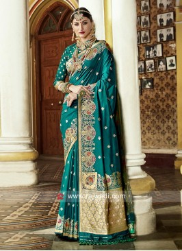 Art Silk Wedding Weaved Saree