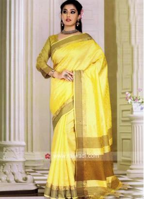 Art Silk Woven Saree