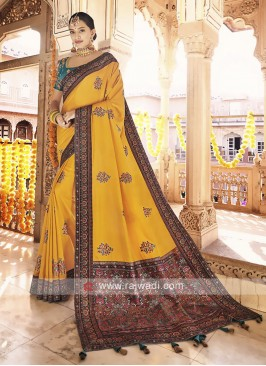 Art Silk Yellow Saree
