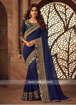 Art Silk Zari Border Work Saree