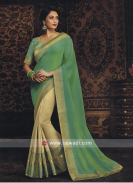Art Silk Zari Work Half Saree