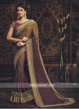 Art Silk Zari Work Saree