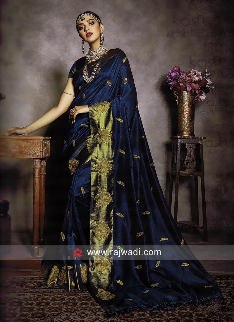 Art Silk Zari Work Saree