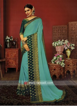 Art Silk Zari Work Saree with Blouse
