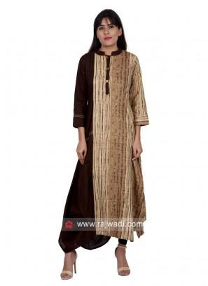 Asymmetric Cotton Long Kurti