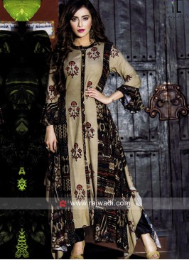 Asymmetric Multicolor Printed Kurti