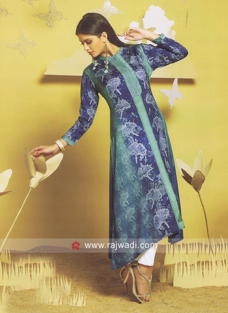 Asymmetric Shaded Kurti