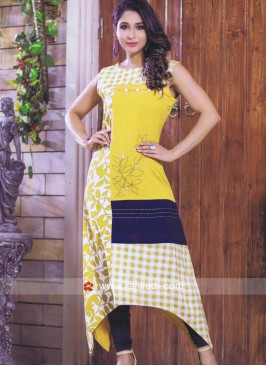 Asymmetric Thread Work Kurti