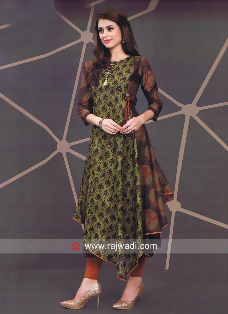 Asymmetrical Silk Kurti