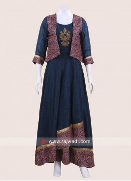 Asymmetrical Style Kurti with Koti