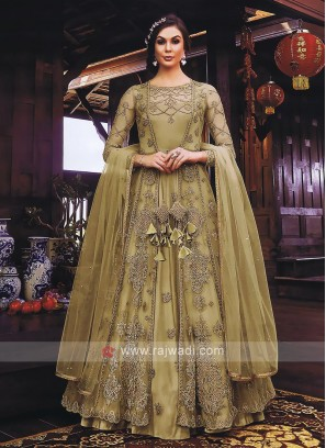 Attractive Jacket Style Salwar Kameez