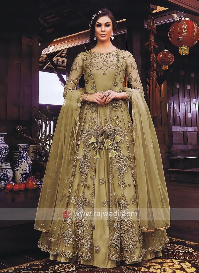 Attractive Jacket Style Salwar Kameez