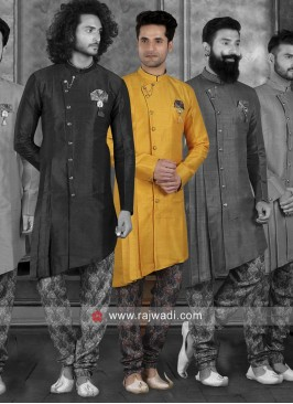 Attractive Art Silk Indo Western Sherwani