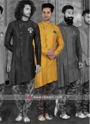 Attractive Art Silk Indo Western Sherwani