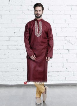 Attractive Art Silk Kurta Pajama