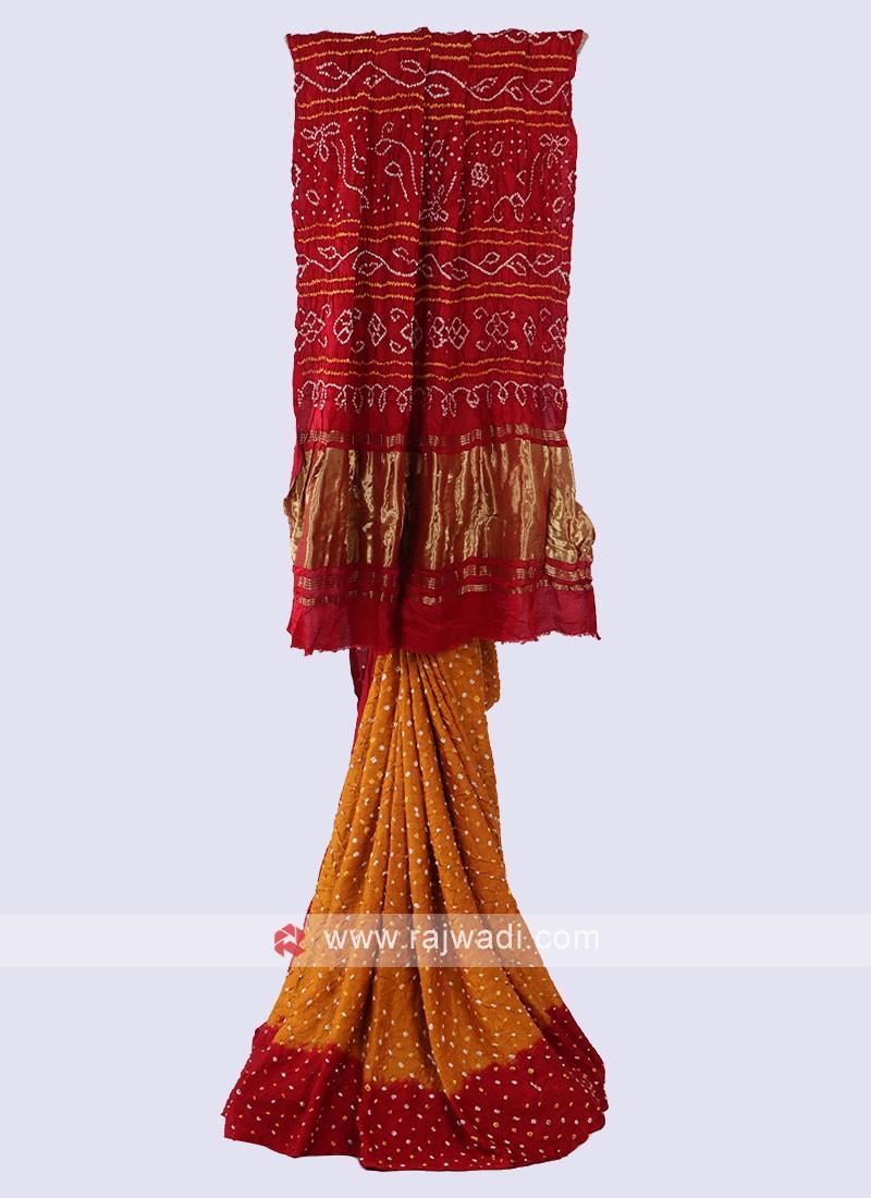 Attractive Bandhani Saree