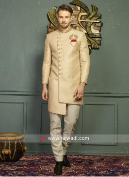Attractive Beige Color Indo Western