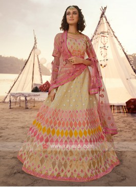 Attractive Beige Lehenga Choli
