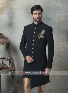 Attractive Black Color Indo Western