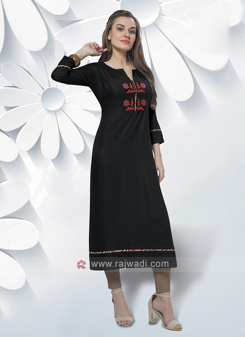 Attractive Black Color Kurti