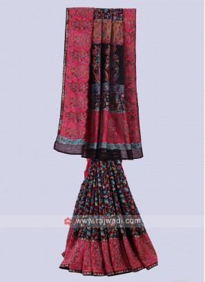 Attractive Black Color Saree