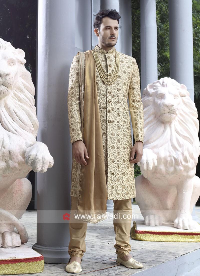 Groom Golden Sherwani