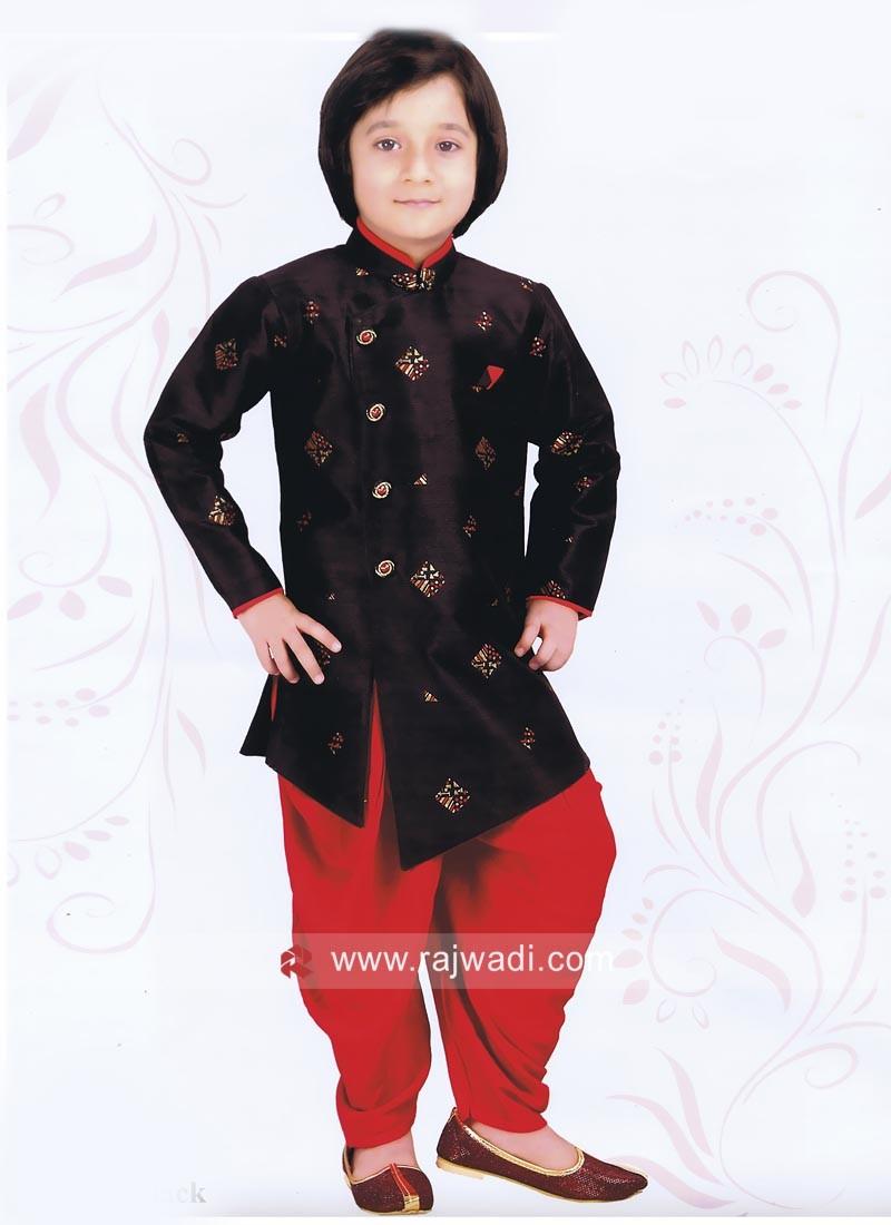 Attractive Black Indo Western