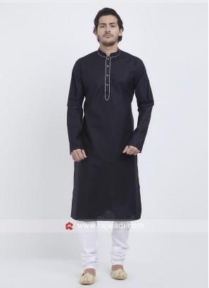 Attractive Black Kurta Set For Eid